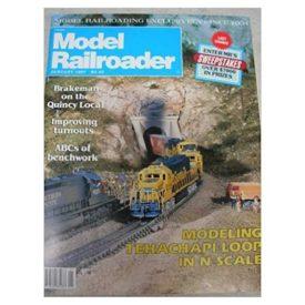 Model Railroader (January 1987)  - Vol 54 No. 1 (Collectible Single Back Issue Magazine)