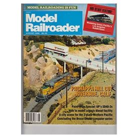 Model Railroader (August 1986)  - Vol 53 No. 8 (Collectible Single Back Issue Magazine)