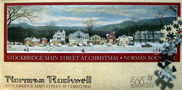 Norman Rockwell Main Street Stockbridge At Christmas 500 Piece Puzzle