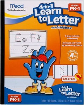 Mead 4-in-1 Learn to Letter with Guidelines Grade Pk-1 (Paperback)