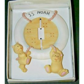 Russ Baby Noah's Menagerie Single Switchplate Handpainted S.S. Noah Bears 24325