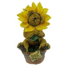 Boyds Bears Resin POSEY B GOODCHEER LOOKIN UP Get Well Bearstone Bee 227769