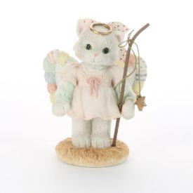 Calico Kittens a Purr-fect Angel From Above Nativity Figurine