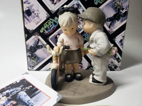 """Kim Anderson's Pretty As A Picture """"My Girl"""" Boy & Girl With Bicycle Figurine 785881"""