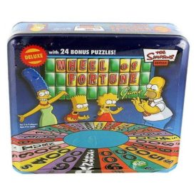 The Simpsons Wheel of Fortune Deluxe Edition with 24 Bonus Puzzles Comes in Collectible Tin