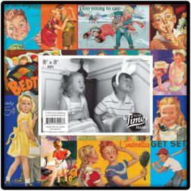 Charming Nostalgic Frames - Retro Vintage Kids 8x8