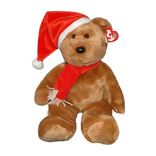 Ty Beanie Buddies 1997 Holiday Teddy Bear Plush