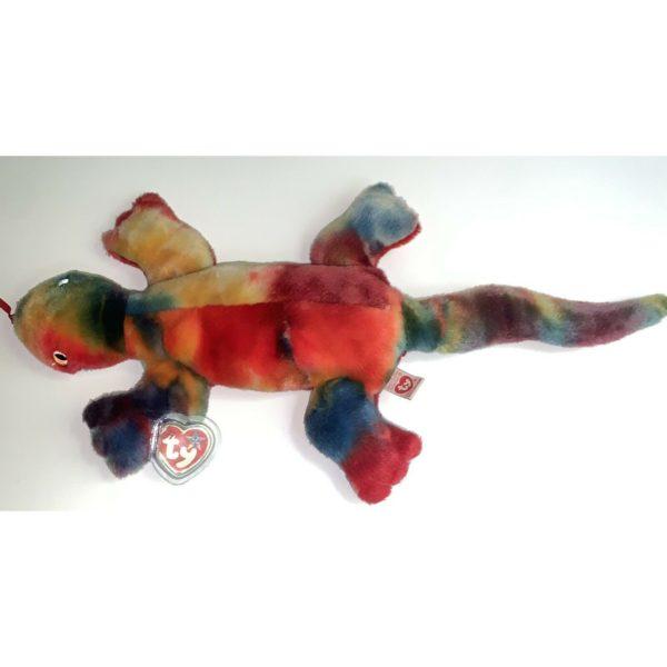 Ty Beanie Buddy - LIZZY The Tie-dyed Lizard Plush