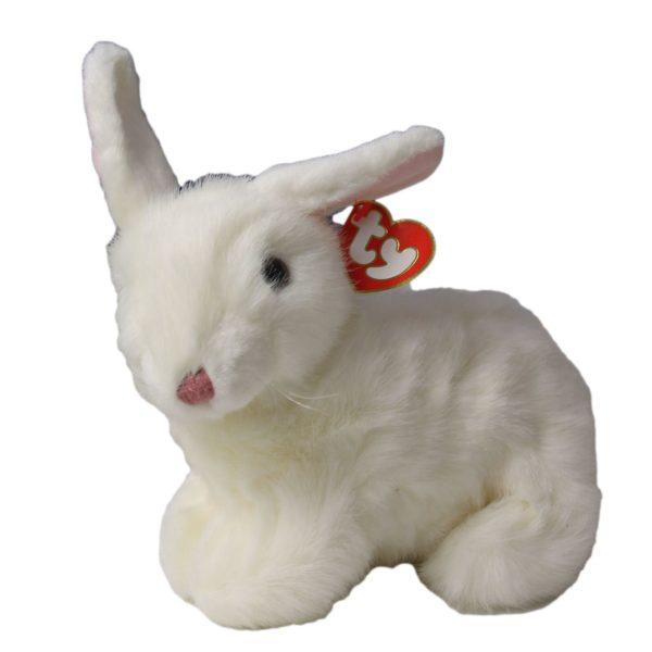 Ty Beanie Buddy - BOWS The White Rabbit Classic Plush
