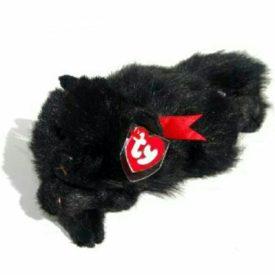 Ty Beanie Buddy - Licorice The Black Cat Red Ribbon Classic Plush 1997 Rare