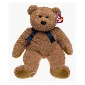 Ty Beanie Buddy - FUZZ the Bear (14 inch) Plush
