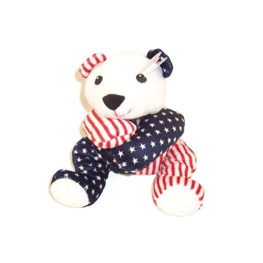 Ty Pillow Pal - SPARKLER the Patriot Bear (14 inch) Plush