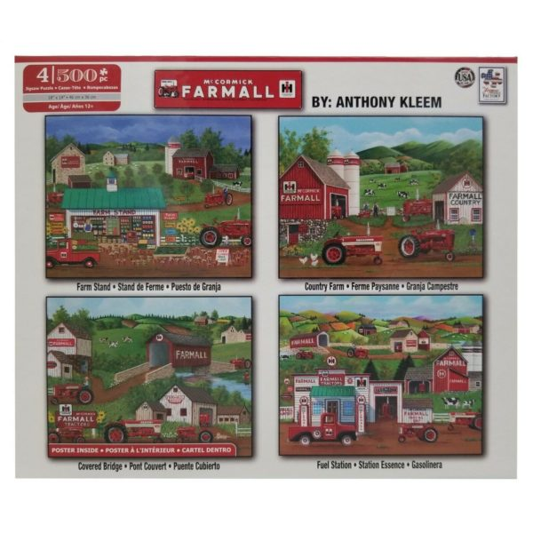 4 in 1 Farm All Puzzle Set - Each 500 Piece Jigsaw Puzzle is 18 X 14 Inches