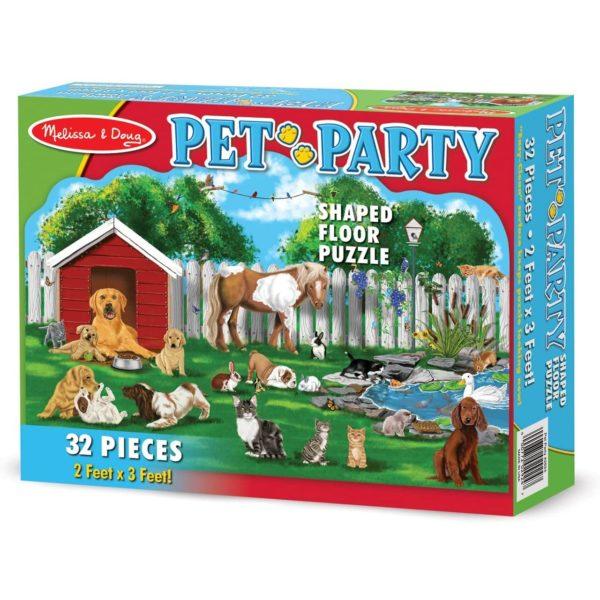 Melissa & Doug Pet Party Shaped Floor Puzzle - 32 Pieces