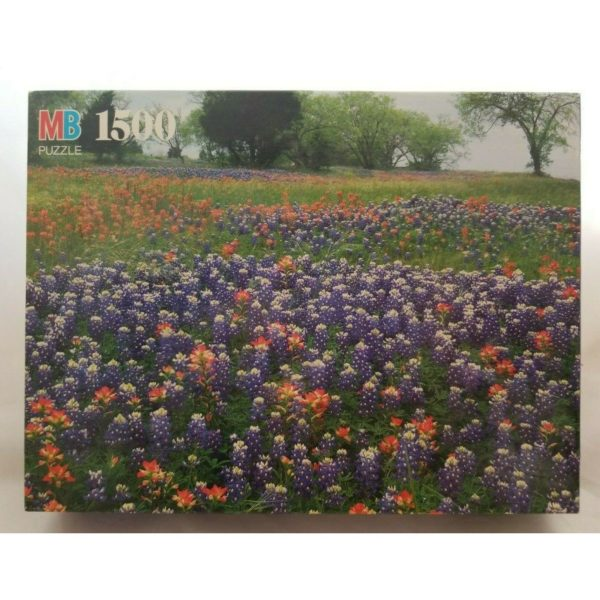 "Vintage 1992 Milton Bradley York ""Hill Country, Texas"" 1500 Piece Jigsaw Puzzle 4335-19"