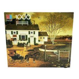 """Vintage 1991 Milton Bradley Charles Wysocki Americana """"Birch Point Cove"""" 1000 Piece Jigsaw Puzzle 4679-21"""