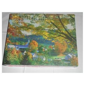 Vintage Golden Guild 1000 Piece Puzzle Fall in East Topsham