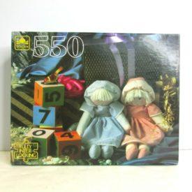 Vintage 1990s Golden 550 Piece Puzzle Dolls and Blocks