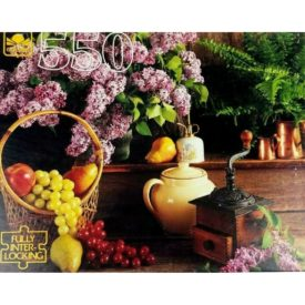 Vintage 1990s Golden 550 Piece Puzzle Kitchen Items Coffee Grinder