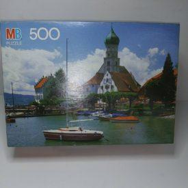 Vintage 1990 Milton Bradley Croxley Puzzle 500 Piece Wasserburg, Bodensee, Germany