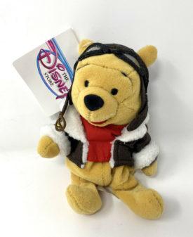 Disney Store PILOT POOH - Winnie the Pooh Mini Bean Bag Plush