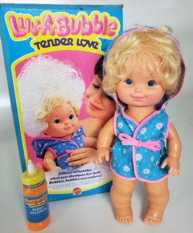 Vintage 1978 Mattel LUV-A-BUBBLE Hair Shampooing Doll Over 14 Inches Tall No. 2464