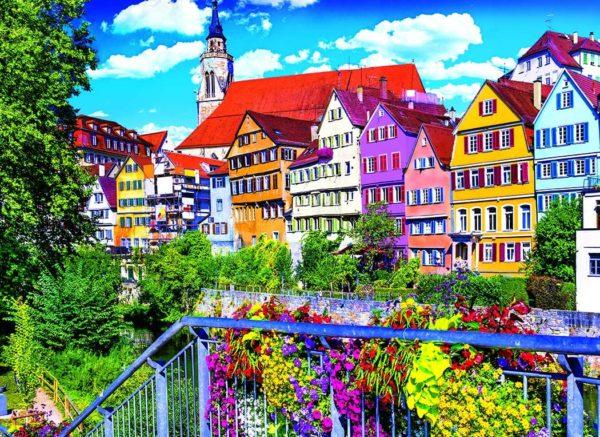 Kodak 1500 Piece - Floral Colorful Town, Tubingen Germany