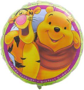 "Hallmark Pooh ""Friends Forever - Bestest Buddies"" Foil Party Balloon 18"""