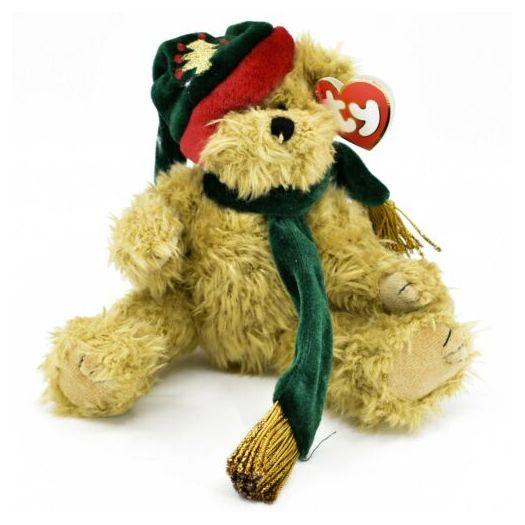 Ty Attic Treasures Spruce Holiday Christmas Jointed Teddy Bear