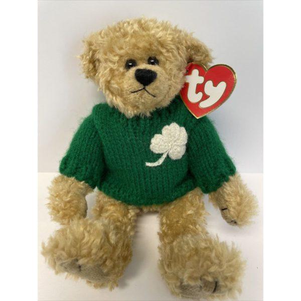 "TY Attic Treasure ""BLARNEY"" the IRISH TEDDY BEAR Jointed Removable Sweater"