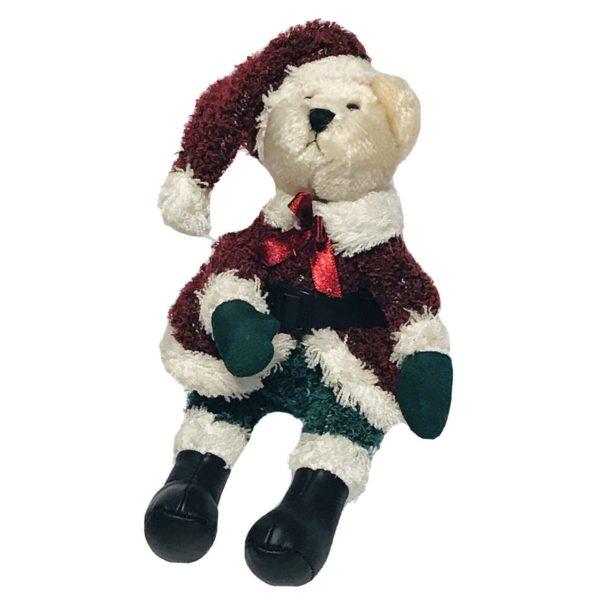 "TY Attic Treasures Jointed Santa Bear 8"" Stuffed Plush Toy Christmas"