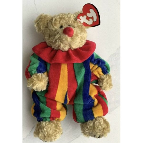 Beanie Baby Attic Treasures Collection PICCADILLY Jointed Clown Bear