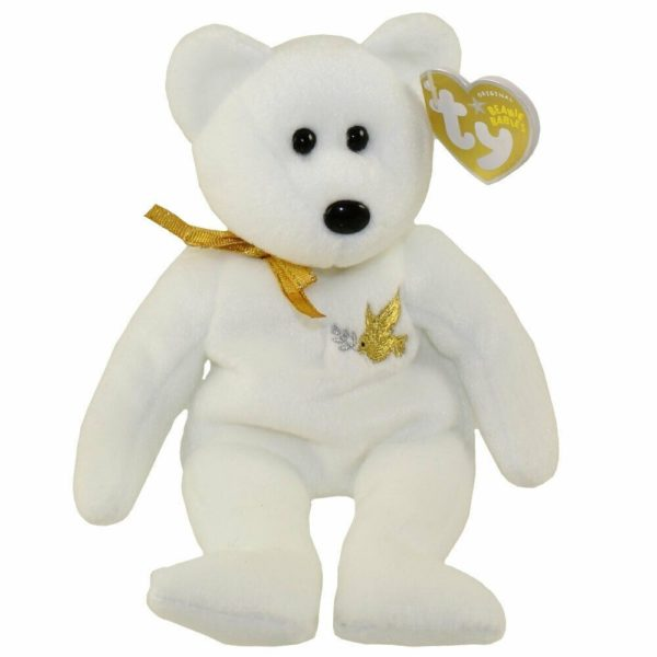 TY Beanie Baby - HOLY FATHER the Bear Gold Hang Tag (8.5 inch)