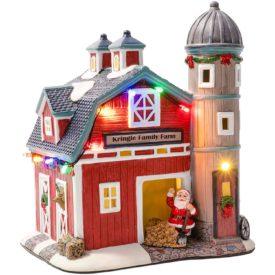 Crosslight Christmas Village Porcelain LED Kringle Family Farm