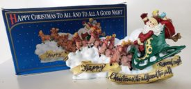 """Vintage 1997 """"Happy Christmas To All And To All A Good Night"""" Figurine - Clement C. Moore Poem"""