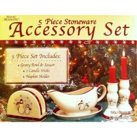 Royal Seasons 5 Piece Stoneware Accessory Set