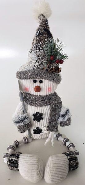 "Hanna's Handiworks Silver Lining Snowman Plush Shelf Sitter 19"""